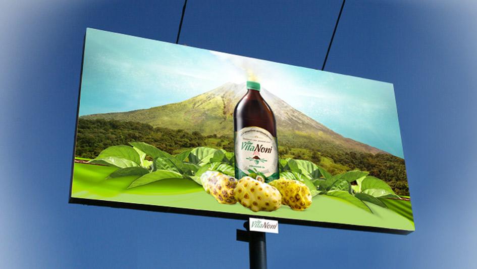 Разработка рекламного баннера VitaNoni © Креативное агентство KENGURU