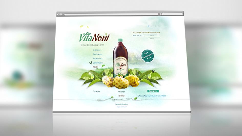Разработка рекламы для VitaNoni © Креативное агентство KENGURU
