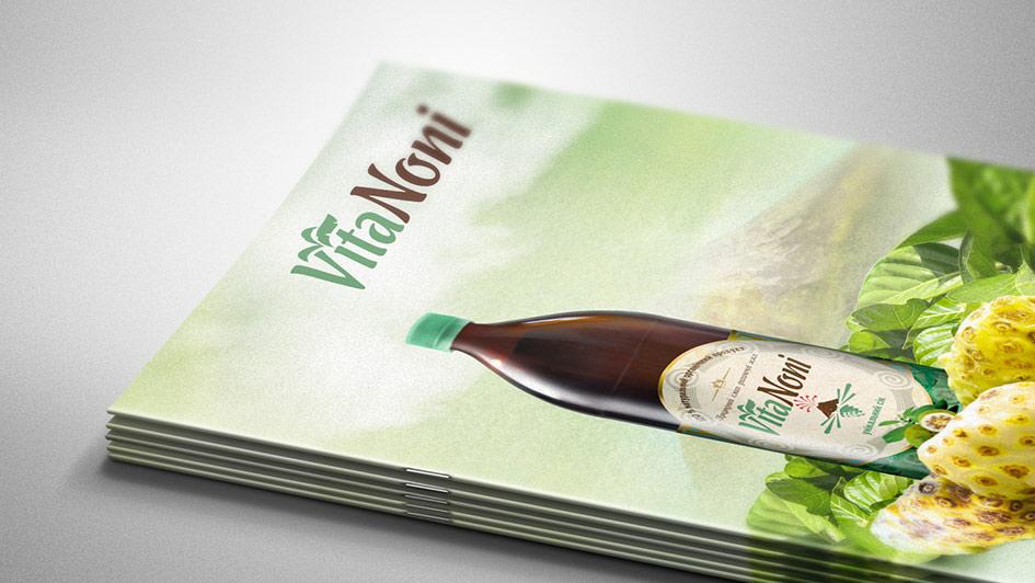 Разработка печатной продукции для компании VitaNoni © Креативное агентство KENGURU