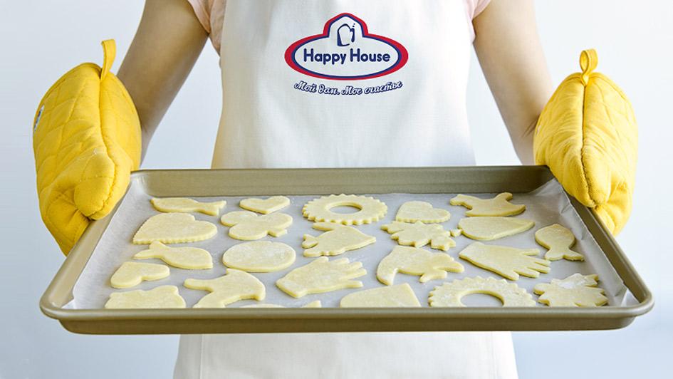 Использование логотипа Happy House в продукции © Креативное агентство KENGURU