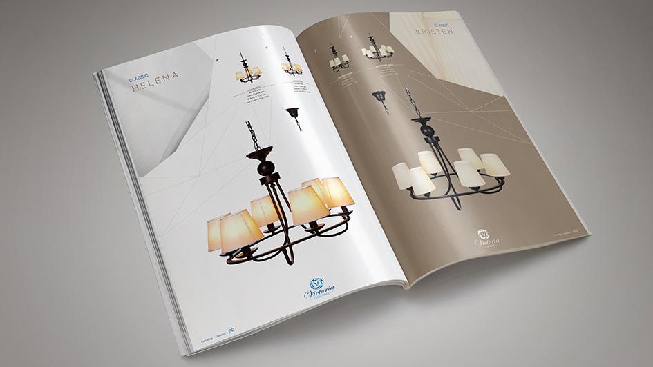Создание концепции каталога светильников © Креативное агентство KENGURU