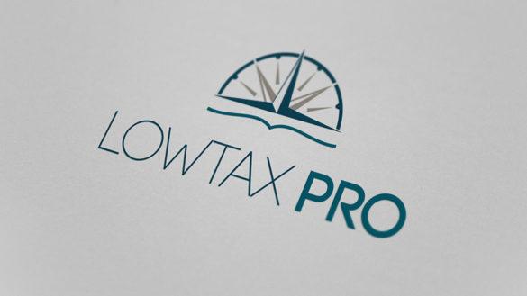 Разработка логотипа для компании LOWTAX PRO © Креативное агентство KENGURU