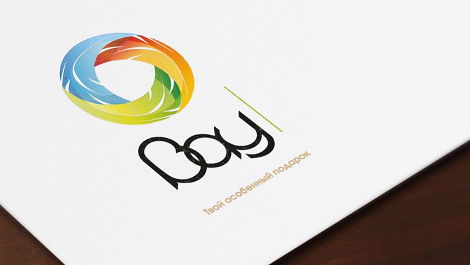 """Использование логотипа в продукции компании """"ВАУ"""" © Креативное агентство KENGURU"""