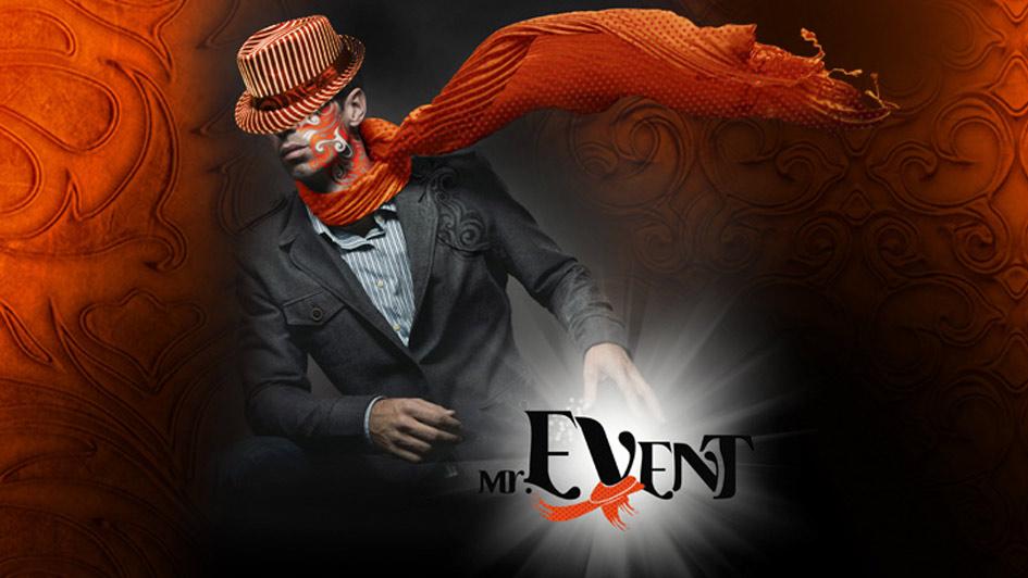 """Создание рекламного баннера компании """"Мистер Event"""" © Креативное агентство KENGURU"""