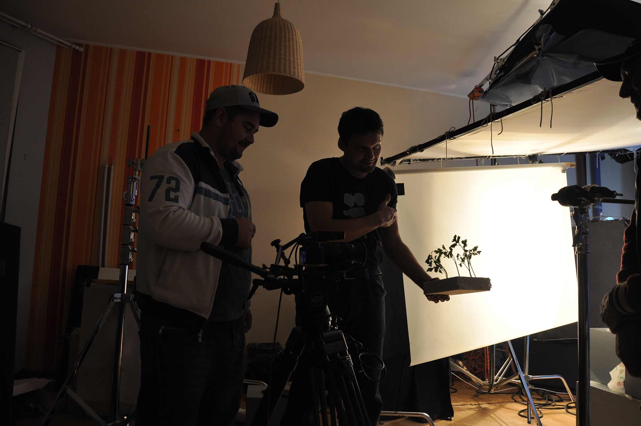 Процесс съемок видеоролика