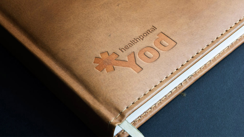 Слепое тиснение логотипа Yod