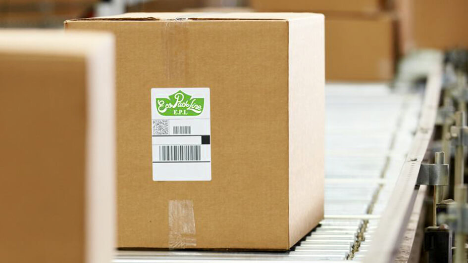 Наклейки EcoPackLine с логотипом компании © Креативное агентство KENGURU