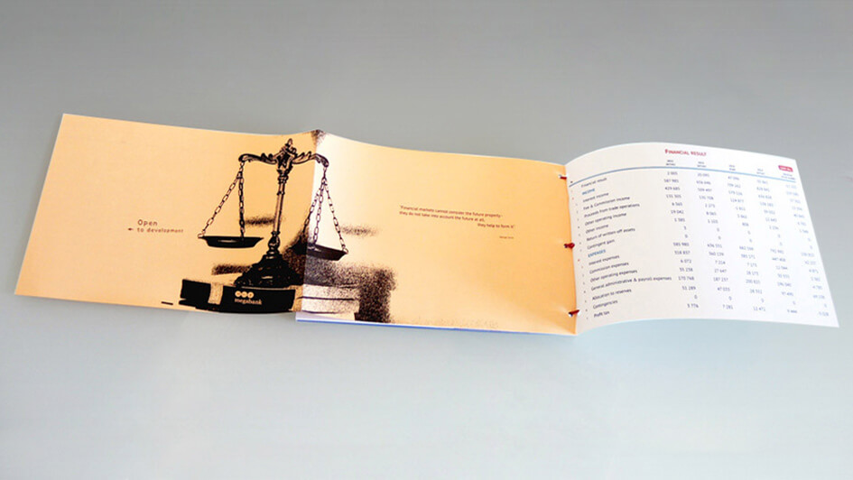 Создание брошюры. Квартальный отчет MEGABANK © Креативное агентство KENGURU