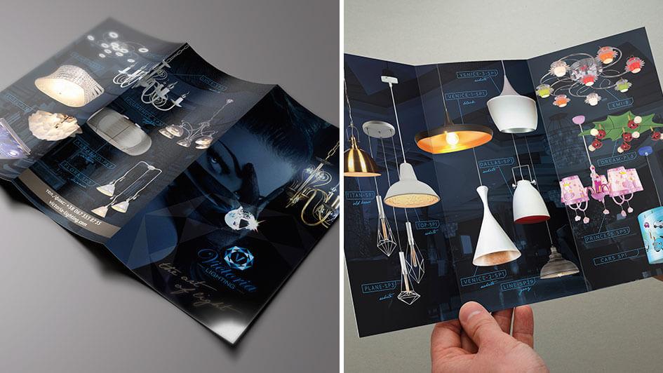 Концепция каталога светильников Victoria Lighting © Креативное агентство KENGURU