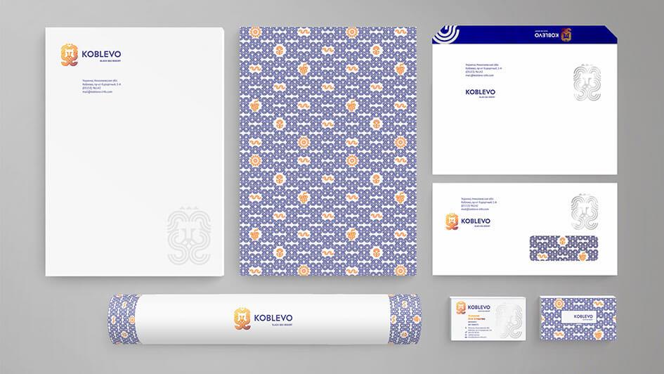 Создание фирменной продукции для KOBLEVO © Креативное агентство KENGURU