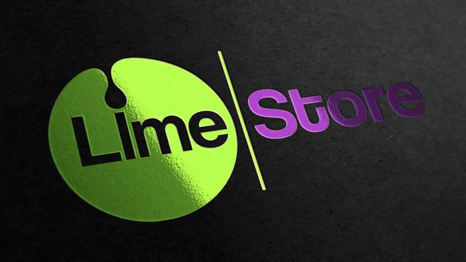 Разработка логотипа LimeStore © Креативное агентство KENGURU
