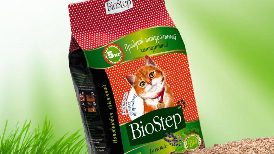 "Концепция упаковки наполнителя ""BioStep"" © Креативное агентство KENGURU"