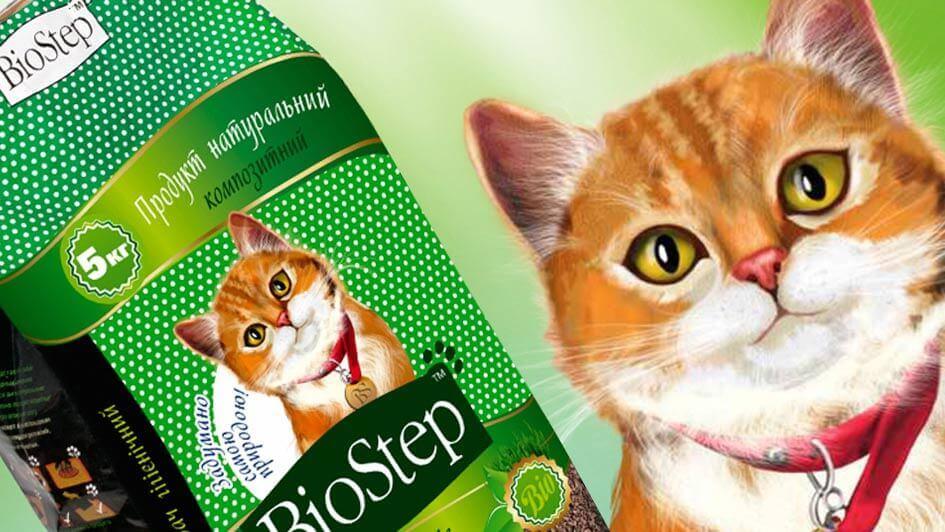 "Разработка дизайна упаковки наполнителя ""BioStep"" © Креативное агентство KENGURU"