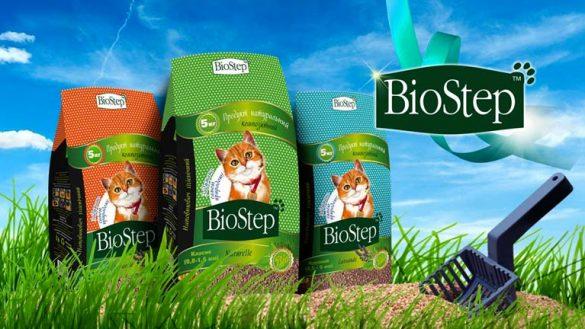 Дизайн линейки упаковок для Гигиенического наполнителя BioStep © Креативное агентство KENGURU