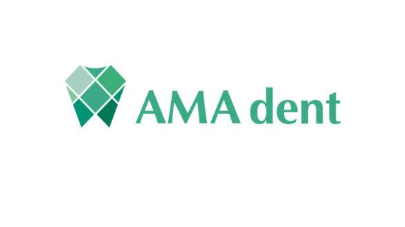 Разработка логотипа и фирменного стиля стоматологии AMA dent © Креативное агентство KENGURU