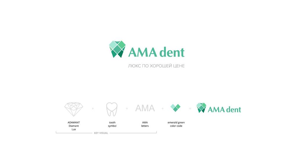 AMA dent logotype development